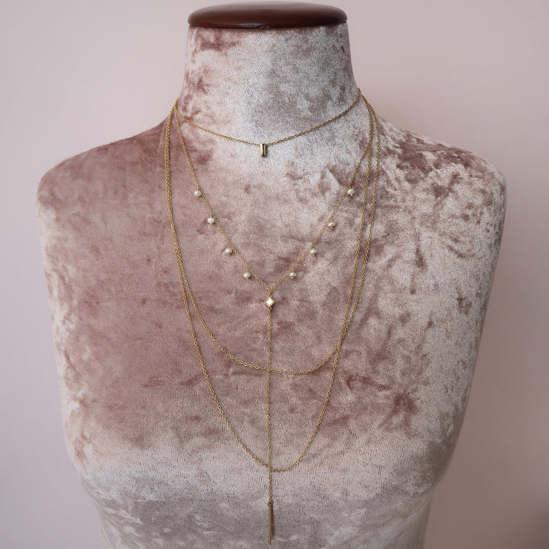 Collar Layers Colgante Perla