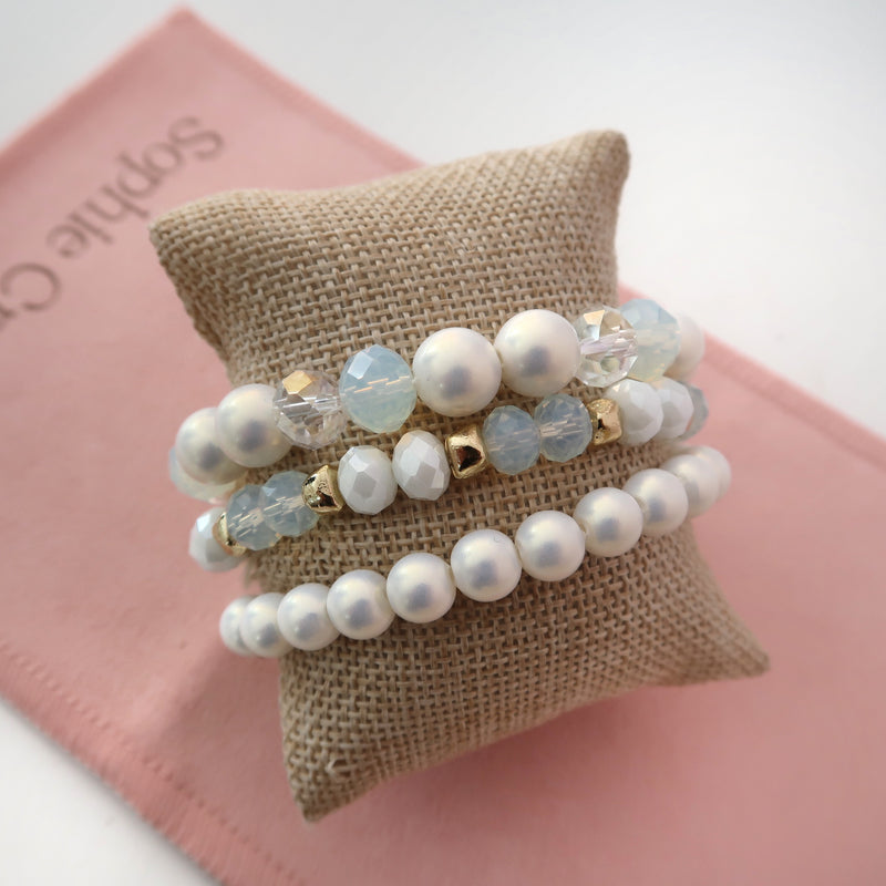 Pulsera 3 Perlas Stretch