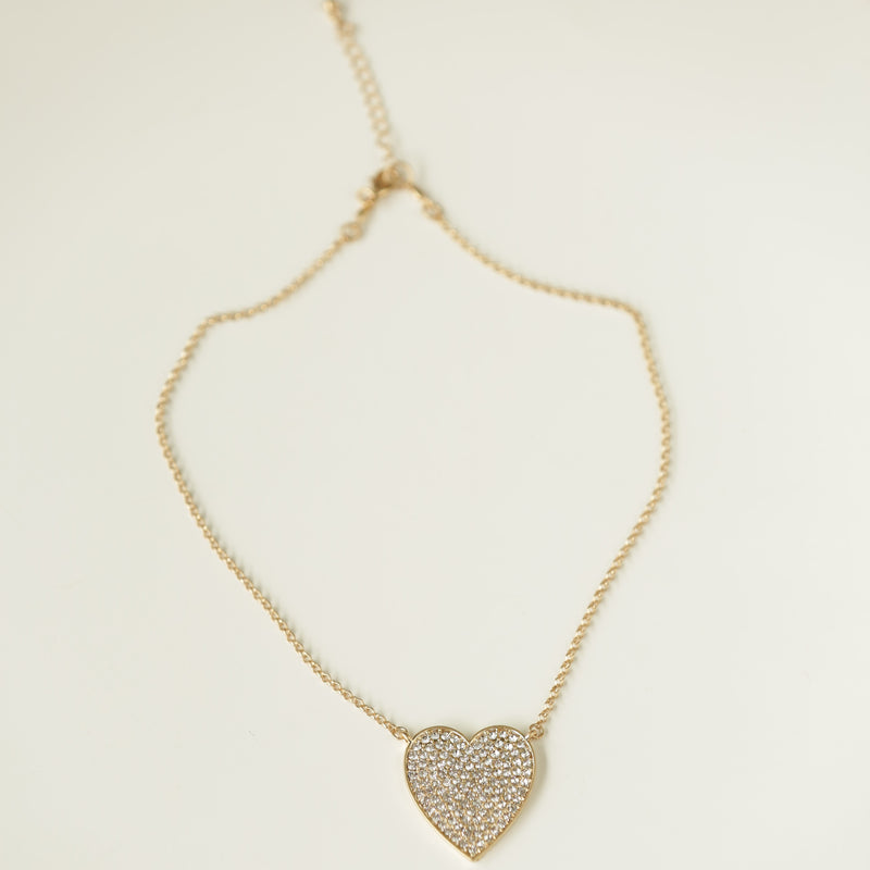 Collar heart full cristal clear