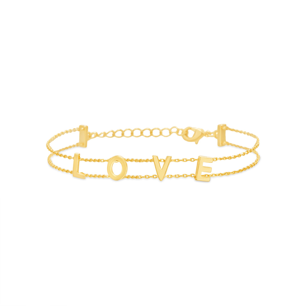 PULSERA DOBLE LOVE GOLD