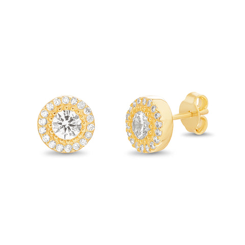 ARETE STUD 8MM CHUBBY GOLD