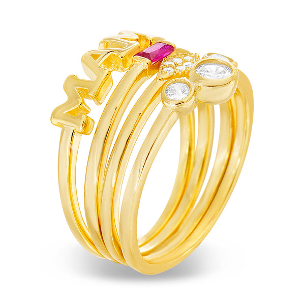 Anillo Slim apilable gold talla 6