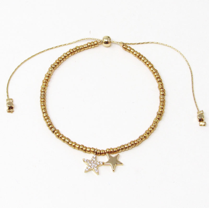 Pulsera regulable star dorada