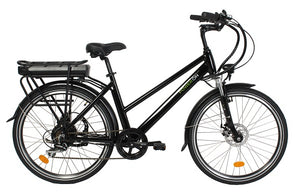 gloss black commuting ebike