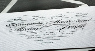 MODERN ROMANCE HEART INVITATION