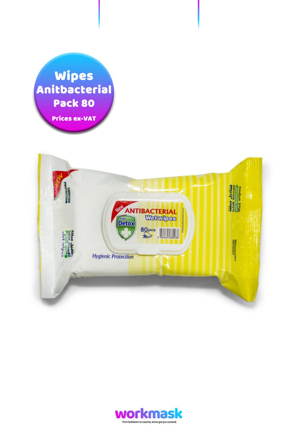Antibacterial Virucidal Sanitising Wipes - Lemon - Detox