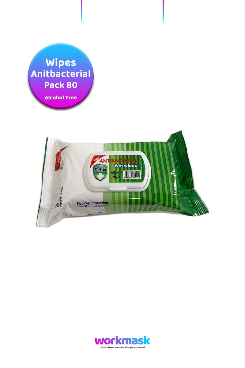 Antibacterial Virucidal Sanitising Wipes - Pine - Detox