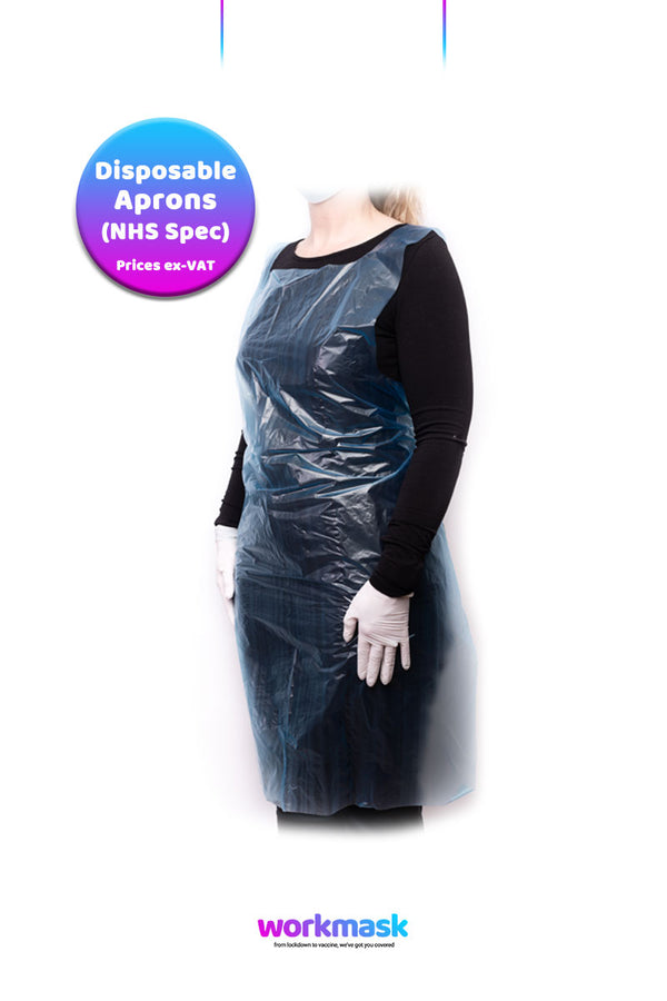 Disposable Aprons - 18 micron - NHS Specification - Blue