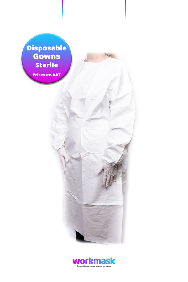 Disposable Sterile Type 5/6 Premium SMS Isolation Gown - White