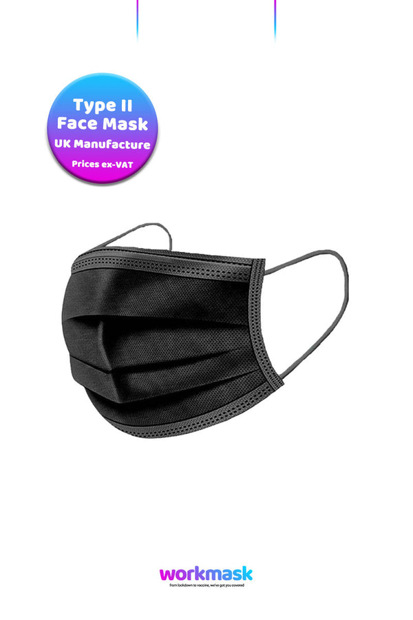 Disposable Face Masks 3-Ply - Black - CMT