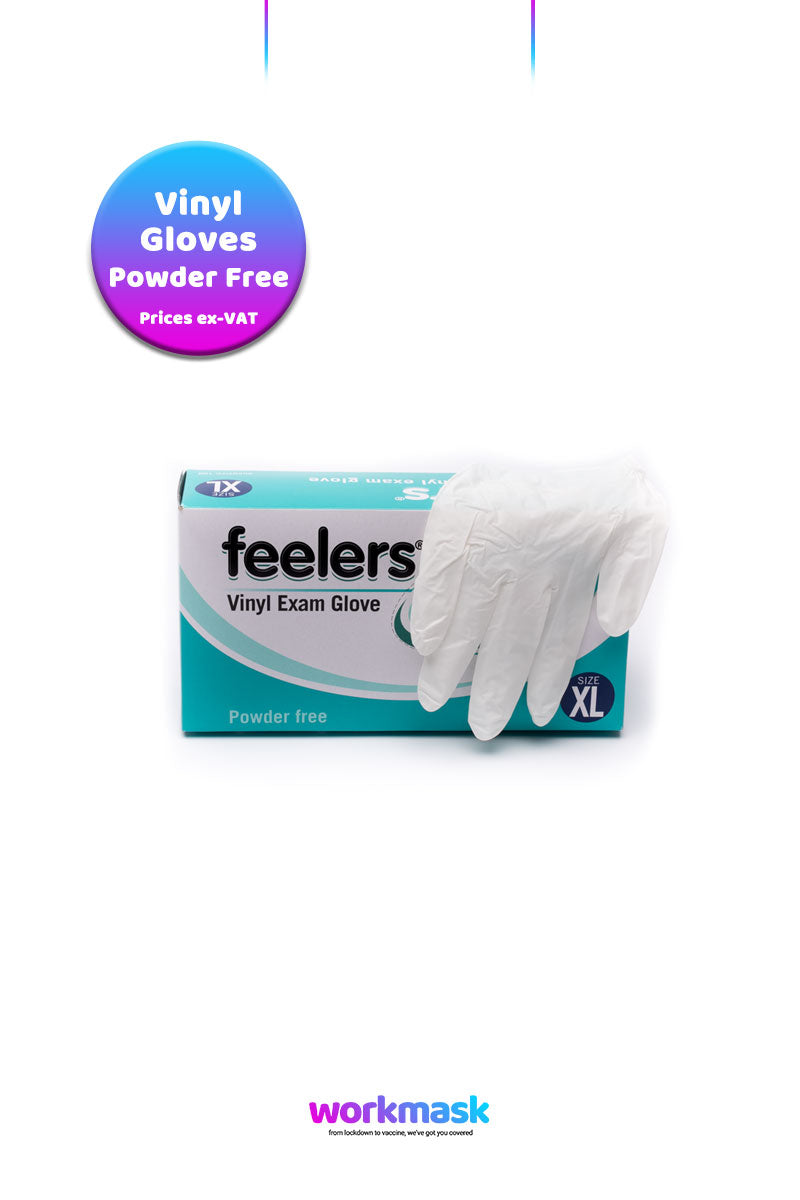 Vinyl Powder Free Gloves Natural - Feelers