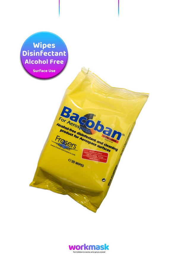 Bacoban Surface Disinfectant Wipes - 25 Wipes