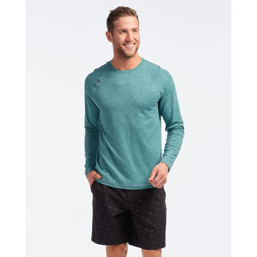 Men's Reign Long Sleeve Top - Aruba Blue Heather