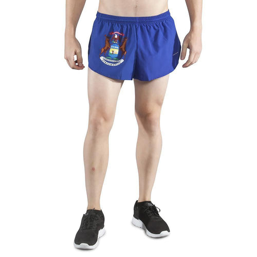 "Men's 1"" Inseam Elite Split Running Shorts - Michigan"