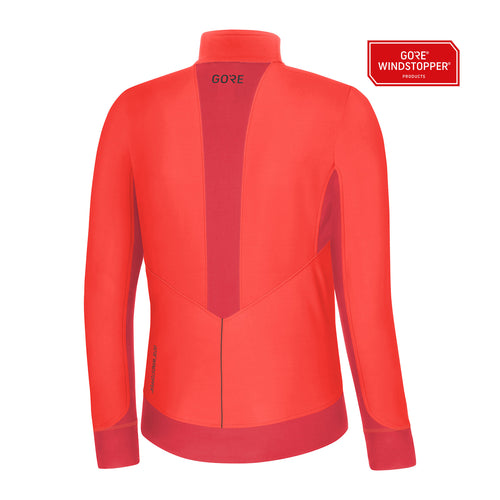 Women's R3 Partial GORE® Windstopper® Shirt - Lumi Orange/Hibiscus Pink
