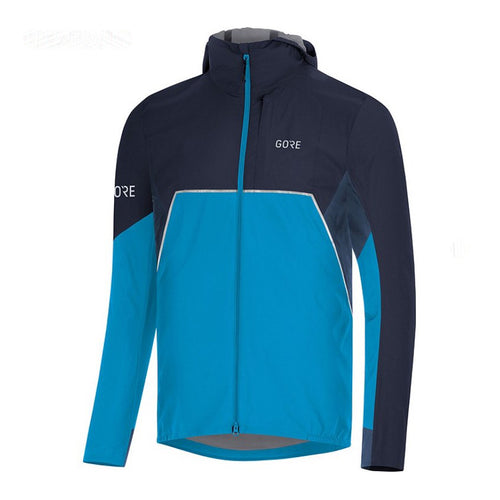 Men's Partial GORE-TEX Infinium™ Hooded Jacket - Dynamic Cyan