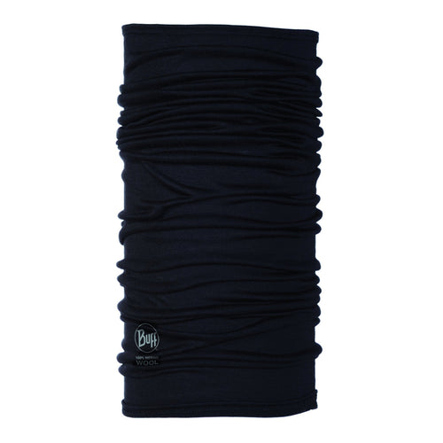 Lightweight Merino Wool Buff- Black