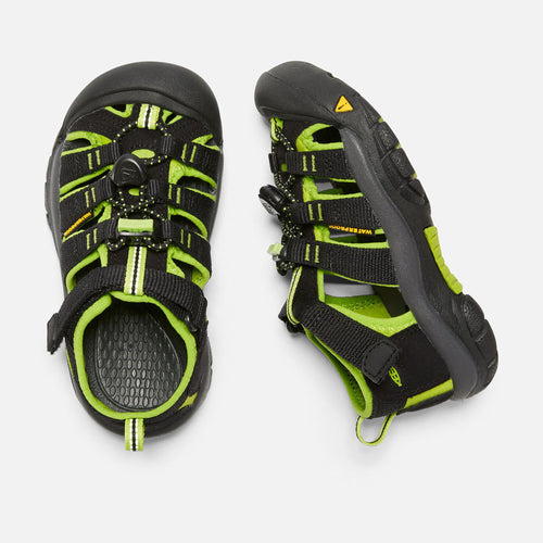 Kids Newport H2 Sandal - Black/Lime Green