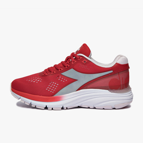 Women's Mythos Blushield 5 Running Shoes - Lively Hibiscus Red/Shrinking V