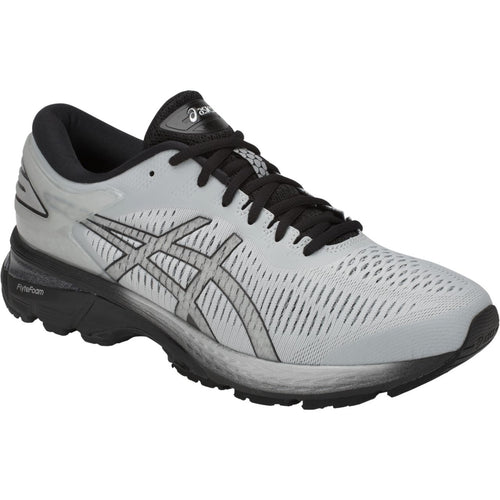 Men's GEL-Kayano 25 Running Shoe (4E-Extra Wide) - Glacier Grey/Black