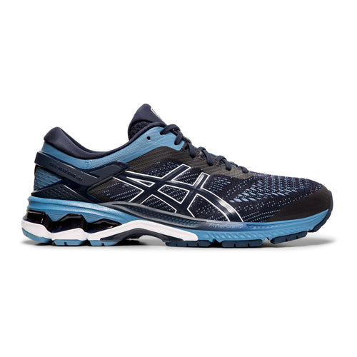 Men's Gel Kayano 26 Running Shoe (Extra Wide Width 4E) - Midnight/Grey Floss