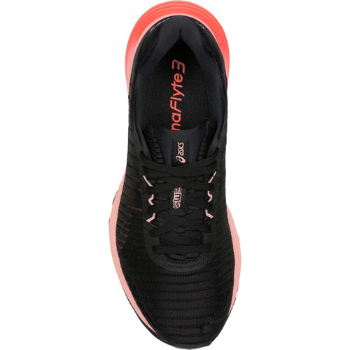 Women's DynaFlyte 3 Running Shoe - Black/Flash Coral