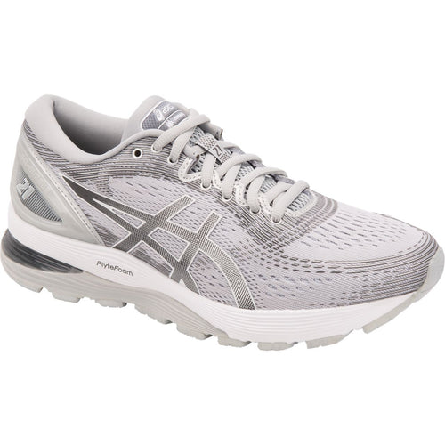 Women's GEL-Nimbus 21 Running Shoes - Mid Grey/Silver