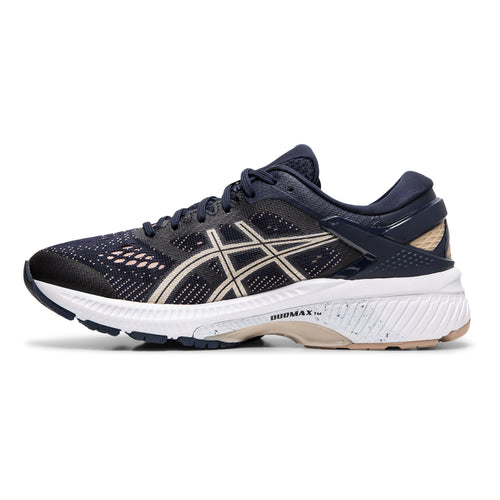 Women's Gel Kayano 26 Running Shoe - Midnight/Frosted Almond
