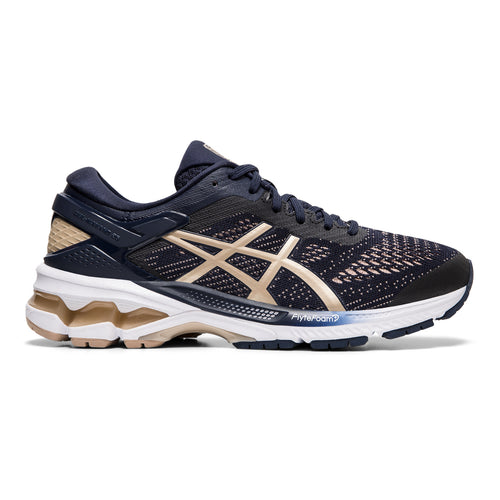Women's Gel Kayano 26 (D - Wide) Running Shoe - Midnight/Frosted Almond