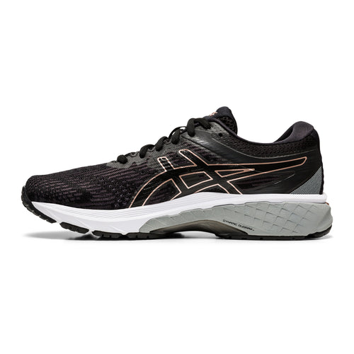 Women's GT 2000 v8 (D - Wide) Running Shoe - Black/Rose Gold