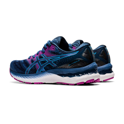 Women's GEL-Nimbus 23 Running Shoe - Grand Shark/Digital Aqua