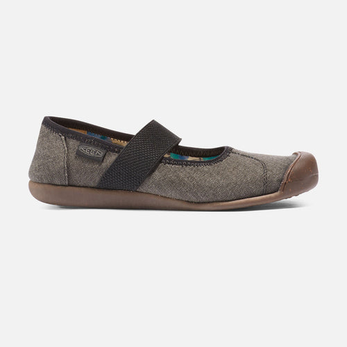 Women's Sienna Mary Jane Canvas-Black