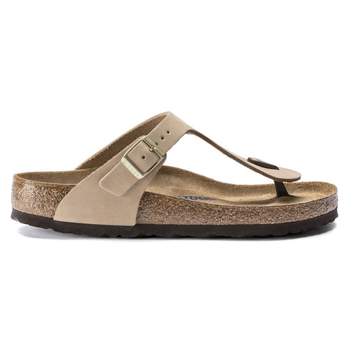 Gizeh Soft Footbed Sandcastle Nubuck Leather