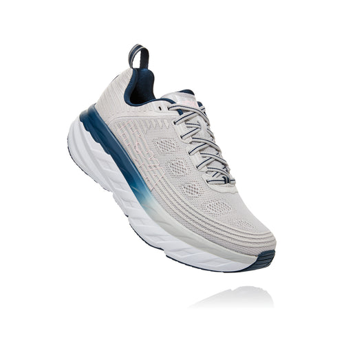 Women's Bondi 6 Running Shoe - Lunar Rock/Nimbus Cloud