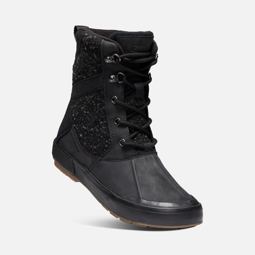 Women's Elsa II Waterproof Wool Boot- Black/Raven