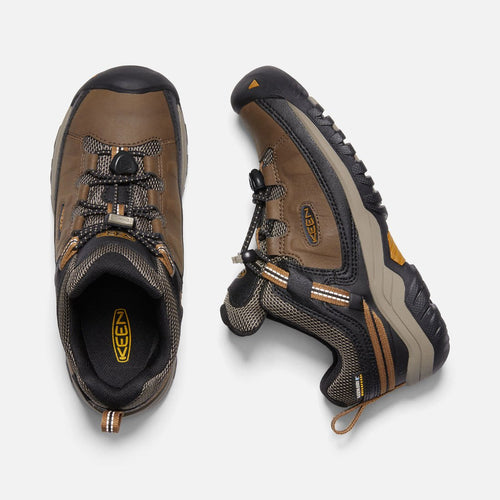 Youth Targhee Waterproof Hiking Shoe - Dark Earth/Golden Brown