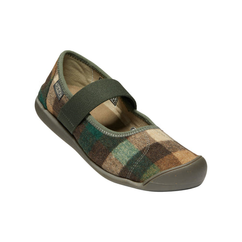 Women's Sienna Mary Jane Plaid Shoes - Brown/Climbing Ivy