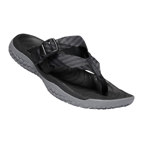 Women's Solr Toe Post Sandal - Black/Steel Grey