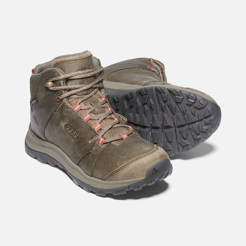 Women's Terradora II Leather Mid Waterproof Boots - Brindle/Redwood