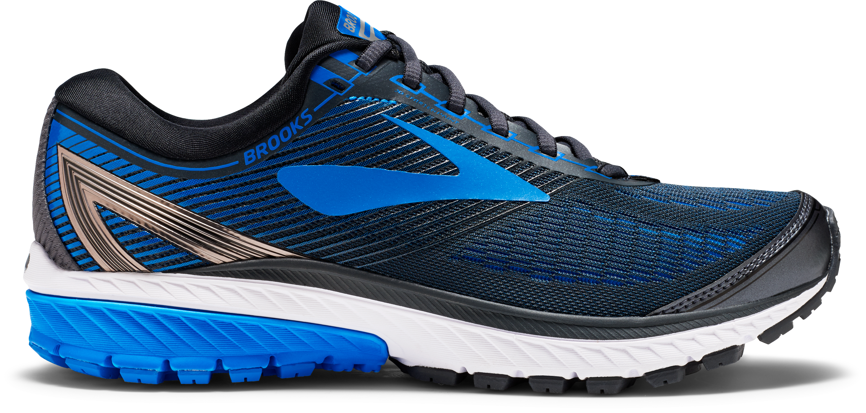 391c35b287b ... Blue Men s Ghost 10 Running Shoe - Ebony Metallic Charcoal Electric  Brooks ...