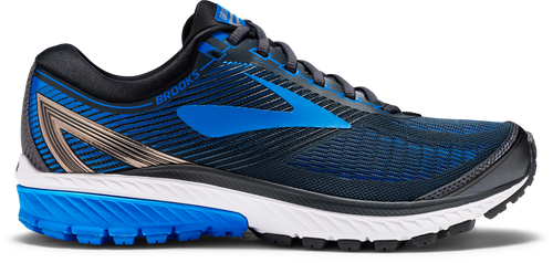 Men's Ghost 10 Running Shoe - Ebony/Metallic Charcoal/Electric Brooks Blue