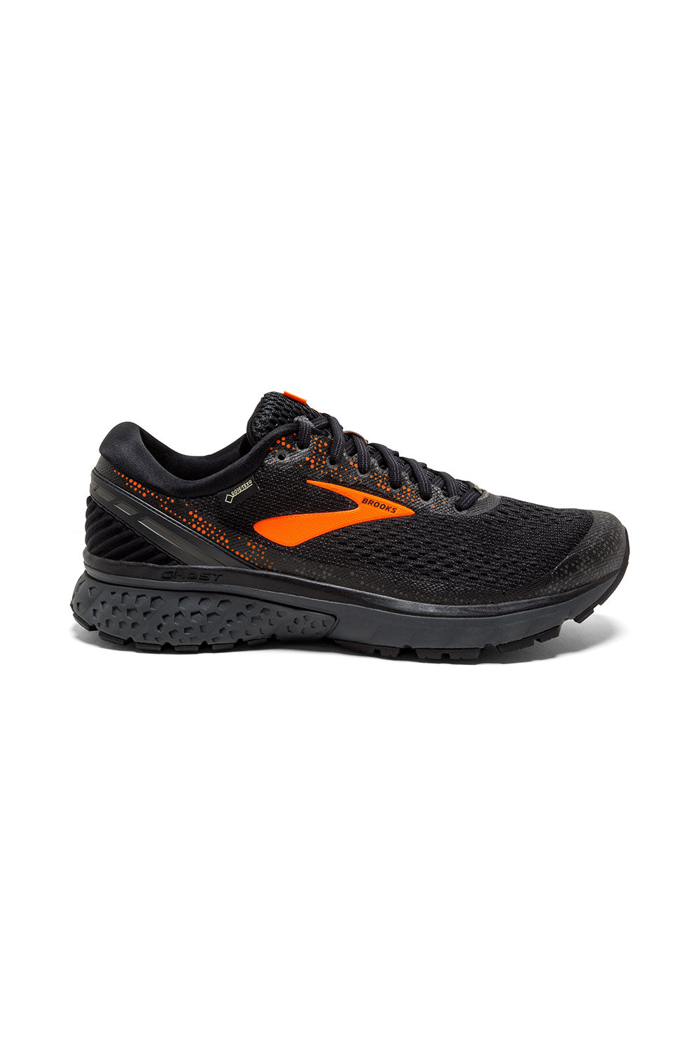 0640e73281db6 Men s Ghost 11 GTX Running Shoe - Black Orange Ebony – Gazelle Sports