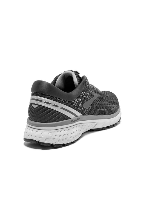 Men's Ghost 11 Running Shoe (2E-Wide) - Ebony/Grey/Silver