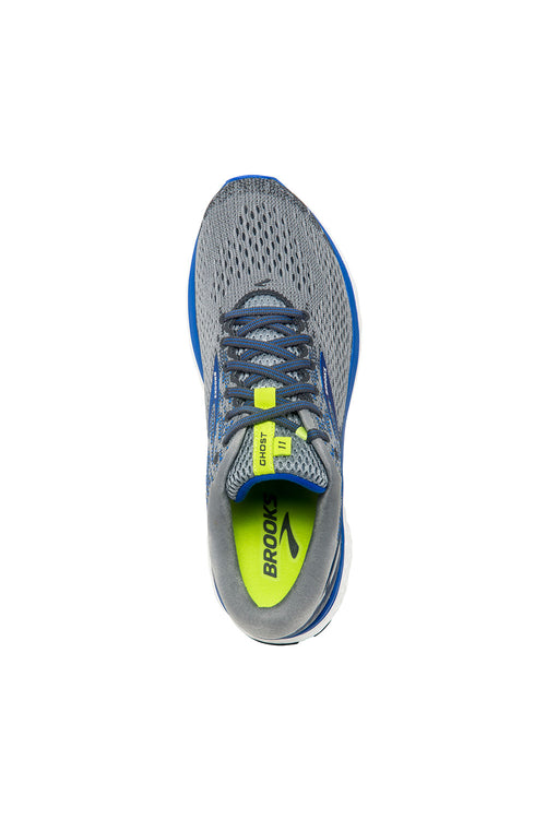 Men's Ghost 11 Running Shoe (4E-Extra Wide) - Grey/Blue/Silver