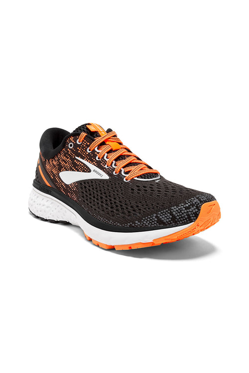 Men's Ghost 11 Running Shoe - Black/Silver/Orange