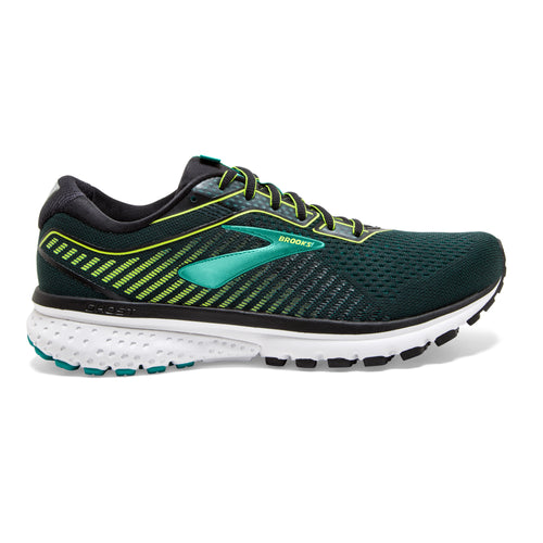 Men's Ghost 12 Running Shoe - Black/Lime/Blue Grass