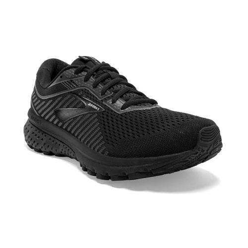 Men's Ghost 12 Running Shoe (2E-Wide) - Black/Grey