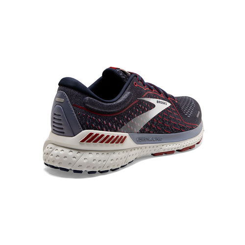 Men's Adrenaline GTS 21 (D - Regular) Running Shoe - Peacoat/Grey/Red