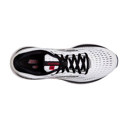 Men's Glycerin 19 Running Shoe - White/Black/Red