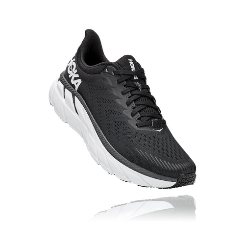 Men's Clifton 7 (Wide - 2E) Running Shoe - Black/White